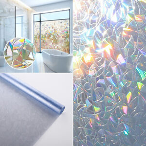 3D Window Glass Film Static Self-Adhesive Sticker Vinyl Frosted Cover Home DIY
