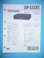 Service Manual-Istruzioni per Sony cdp-x333es, ORIGINALE