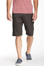 Volcom V-monty Modern Fit Charcoal Grey Flat Front Shorts Men's Size: 33 NWT!
