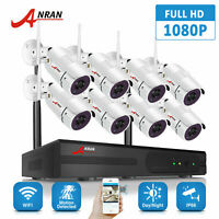 ANRAN Security Camera System Wireless 8CH NVR Wifi Outdoor 1080P HD CCTV 1TB HDD