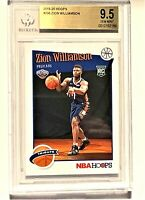 2019-20 Hoops #296 Zion Williamson RC BGS 9.5 GEM MINT NBA Pelicans PSA 10?