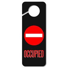 Occupied Red Circle Plastic Door Knob Hanger Sign