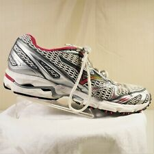 Mizuno Wave Rider 12 Womens Athletic Shoes Silver Gray And Pink Size 8