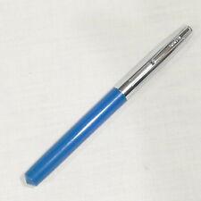 Vintage Shaeffer's Cartridge Fountain Pen ~ Blue & Chrome