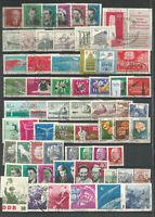 DDR  1961   gestempelt   Jahrgang    komplett (827X +  829 Y )