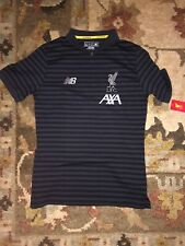 Black Liverpool FC Polo/Warmup Shirt Adult Small