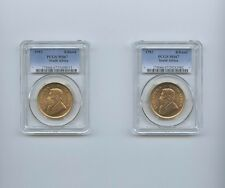 KRUGERRAND 1 OZ GOLD 1983 PCGS MS67 SOUTH AFRICA UNCIRCULATED 2 LOTS 1 COIN EACH