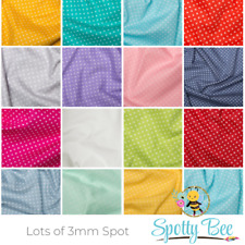 3mm Spotty Polka Dot 100% Cotton Poplin Fabric Sewing Quilting Craft