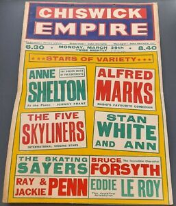 1954 Chiswick Empire Poster Variety Alfred Marks Bruce Forsyth Anne Shelton