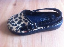 Baby ZEUS leopard Print Shoes Size 3 Toddler Clogs Made In USA