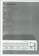 Tandberg  Service Manual  für TR- 3030 englisch