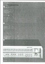 Tandberg Service Manual Pour TR - 3030 anglais