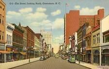 1939 GREENSBORO NC Elm Street North postcard