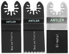 3 Antler Blade Combo A for Dewalt Stanley Worx F30 Oscillating Multitool