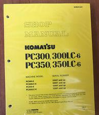 Komatsu Service PC300-6 PC300LC-6 PC350-6 LC-6 Manual Shop Repair