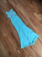 NWOT | Miss Moi | Fashion Sexy Evening Prom Gown Mint Long Tail Bodycon Small