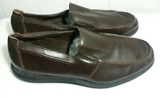 Deer Stags Prime Brown Slip-On Loafers Shoes Mens 13W Upper Leather EUC C21