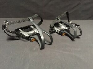NEW VP Alloy 332A Pedals With Toe Clips & Straps 9/16 Black MTB BMX ROAD Fixie