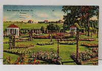 Allentown Pa ROSE GARDENS 1940's Plattsburg NY to Waynesboro Pa Postcard B1