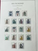 WEST GERMANY(BRD) 1987-89: Sightseeings 17 stamps MNH** VF, 1 album page