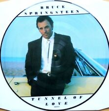 EX/EX BRUCE SPRINGSTEEN TUNNEL OF LOVE VINILE LP PICTURE DISC