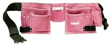 Pink Leather Tool Belt 11 Pockets Double Pouch Hen Party Stag Night Ladies Fancy