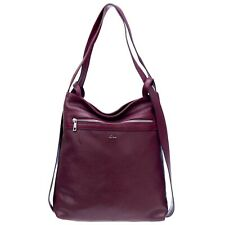 Nardelli Italian Made Cherry Red Calf Leather Large Shoulder Bag/Backpack
