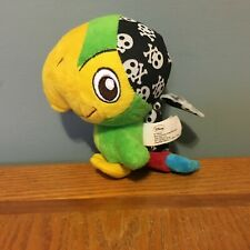 "Disney 6"" Skully The Parrot Beanie Plush Doll VGUC Jake and The Neverlands"