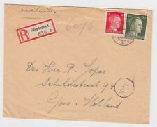 WW2 Guppingen Germany to Holland Censored Cologne Cover 1943