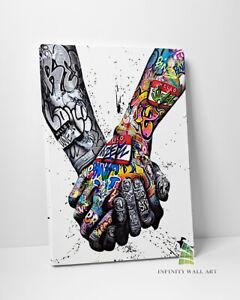 Peace Graffiti Canvas Art Print Picture Canvas Fine Art Framed Canvas Print-C586