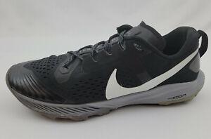Nike Air Zoom Terra Kiger 5 Trail Shoes Black Gunsmoke Mens Size 9.5 AQ2219-001