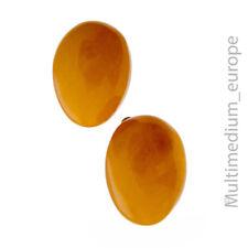 Ohrringe Ohrclips Bernstein vergoldet earrings amber metal gilt 🌺🌺🌺🌺🌺