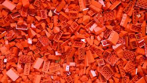 LEGO Red Bricks - 500g of Mixed Red Bricks Plates Parts & Pieces Bundle Job Lot