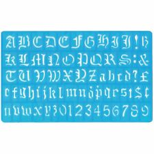 Old English Style Letter Stencil Alphabet Numbers A-Z 0-9