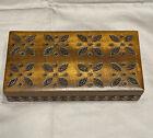 Vintage+Wooden+Carved+Trinket+Box+-+Hinged+And+Inside+Divider