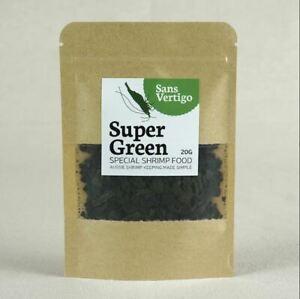 Sans Vertigo Super Green Shrimp Food for all your dwarf pet shrimp