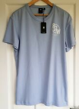 G-Star RAW Blue Cotton T-shirt In Size L