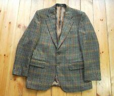 Men's Vintage Burberry British Tweed Wool Sports Coat Jacket Blazer 36S