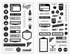 MAMBI The Happy Planner Stamps - Everyday Clear Set Budget