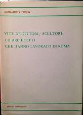 PASSERI,VITE DE' PITTORI,SCULTORI ED ARCHITETTI CHE HANNO LAVORATO IN ROMA,FORNI
