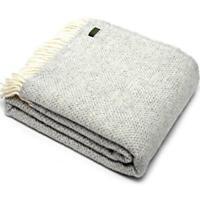 TWEEDMILL TEXTILES KNEE RUG 100% Wool Sofa Bed Blanket HONEYCOMB BEEHIVE GREY