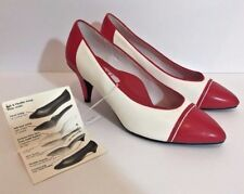 Vintage Red High Heels 10 Soft Flexible by Highlights White Nurse Halloween NOS