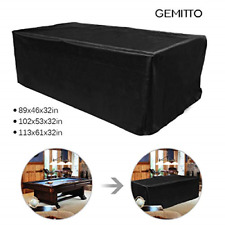 7ft Heavy Duty Waterproof Billiard Snooker Pool Table Dust Cover Anti-UV Black