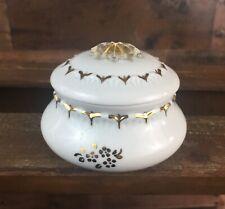 Vintage Porcelain Capodimonte Gold & WhiteTrinket Jewelry Box