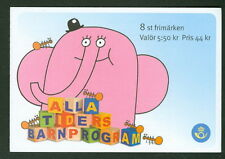 SWEDEN (H568) Scott 2545e, Children's TV Shows booklet, VF