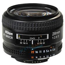 Brand New Nikon AF Nikkor 28mm f/2.8D Black Lens