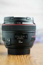 Canon EF 50mm F/1.2L USM Prime Lens with Both Caps