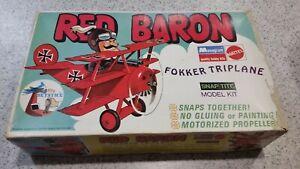Monogram Red Baron Fokker Triplane Model kit 1971