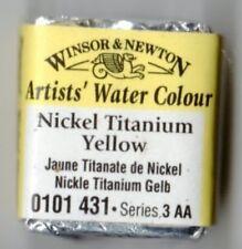 Winsor & Newton Half Pan Artist Water Colour - Nickel Tit.Yellow (RARE) Free P&P