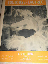 catalogue des oeuvres  de TOULOUSE - LAUTREC ( ref 50 )